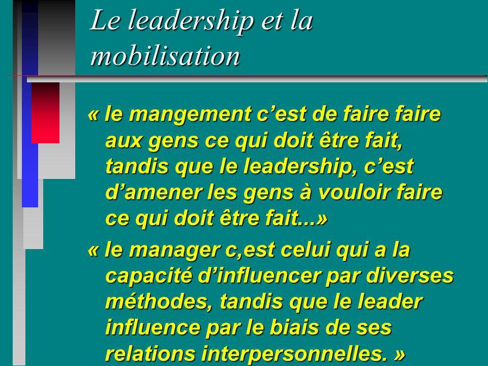 Le leadership et la mobilisation