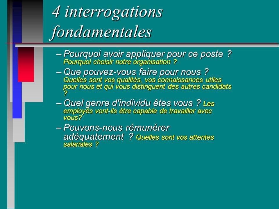 4 interrogations fondamentales