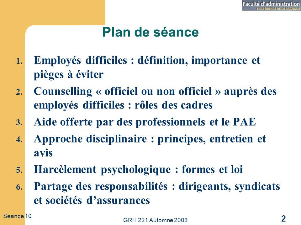Plan de séance Employés difficiles : définition, importance et pièges à éviter.
