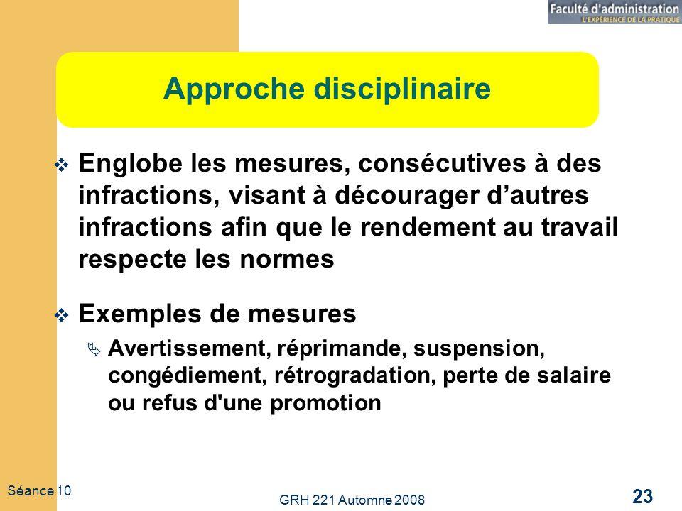 Approche disciplinaire