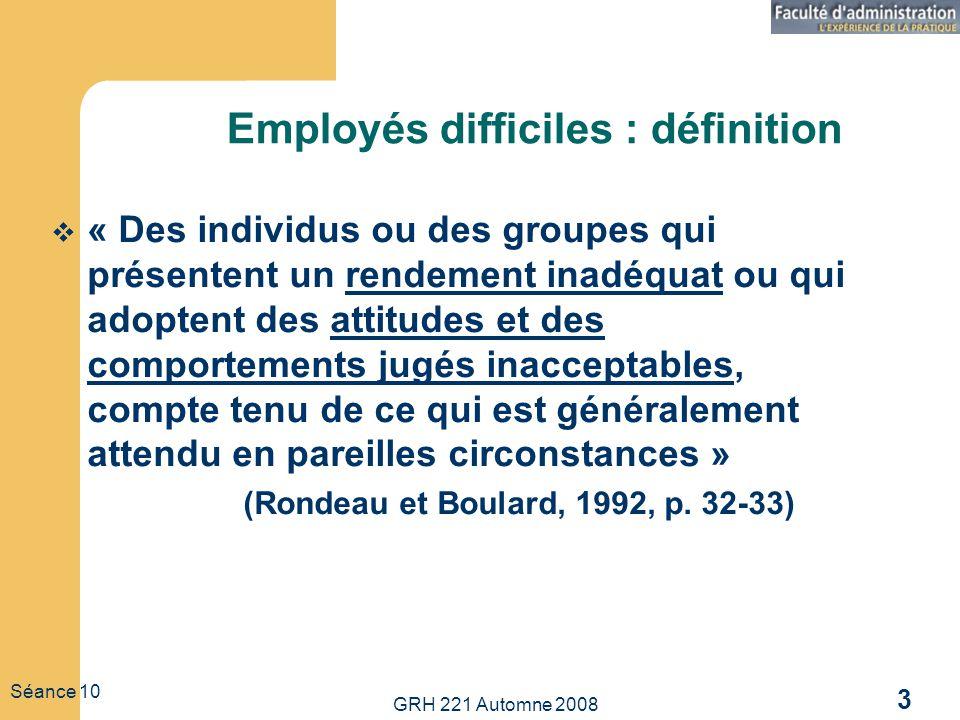 Employés difficiles : définition