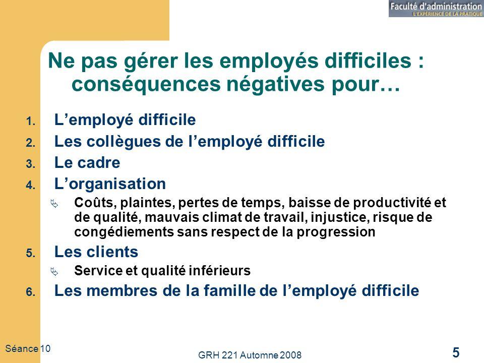 Ne pas gérer les employés difficiles : conséquences négatives pour…