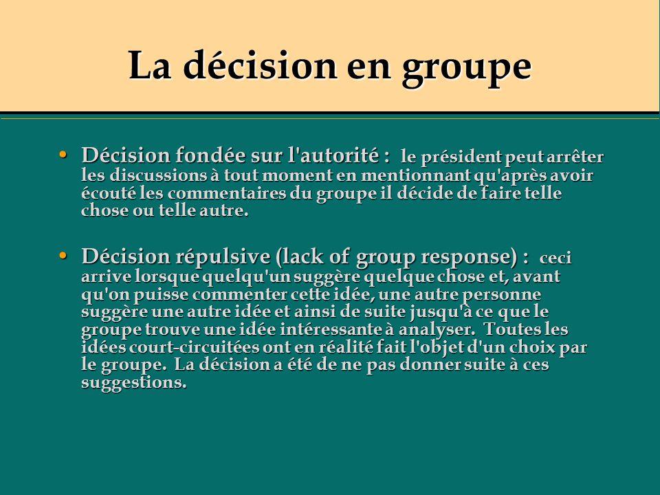 La décision en groupe