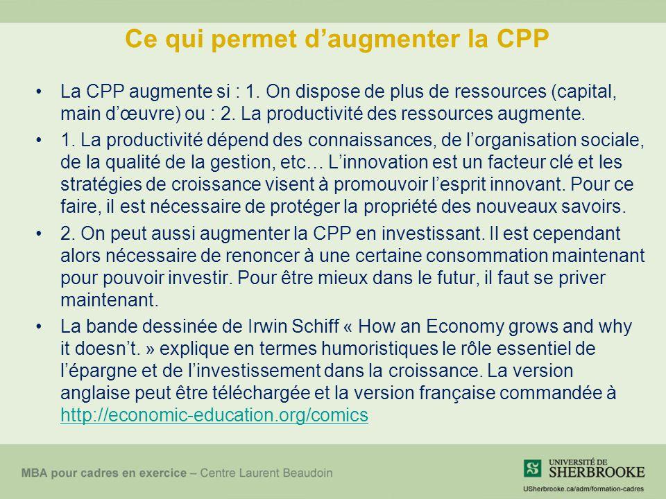 Ce qui permet d'augmenter la CPP