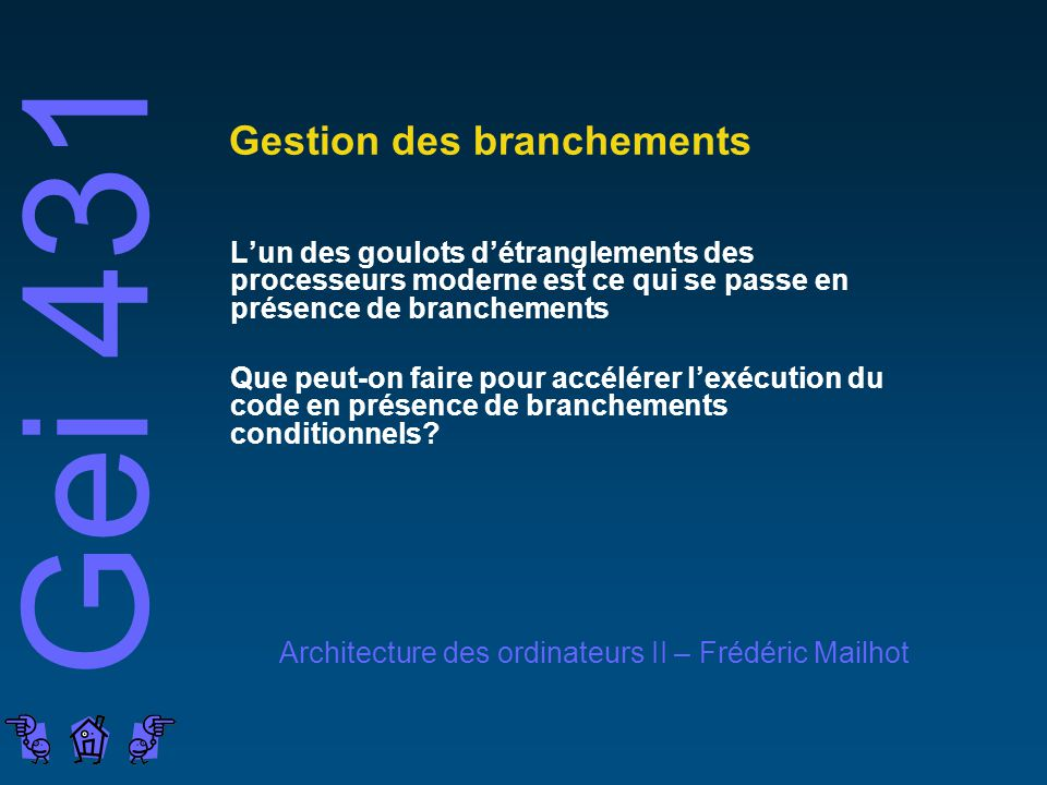 Gestion des branchements