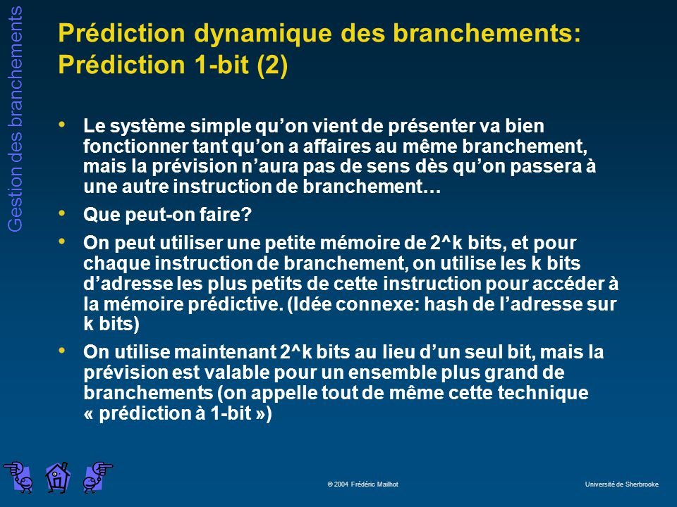 Prédiction dynamique des branchements: Prédiction 1-bit (2)