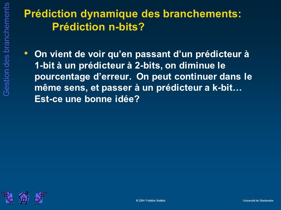 Prédiction dynamique des branchements: Prédiction n-bits