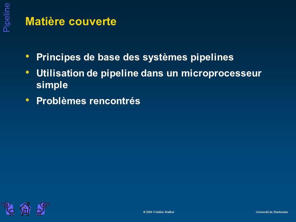 Matière couverte Principes de base des systèmes pipelines