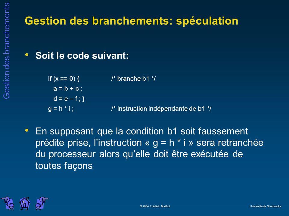 Gestion des branchements: spéculation