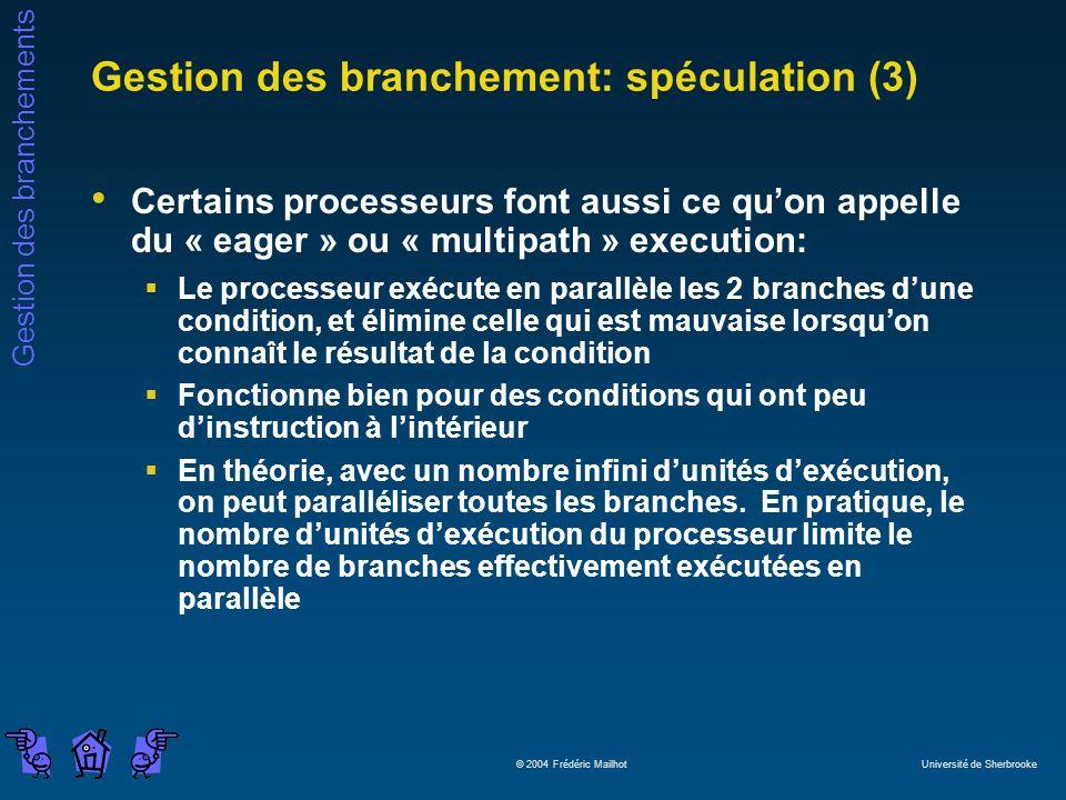 Gestion des branchement: spéculation (3)