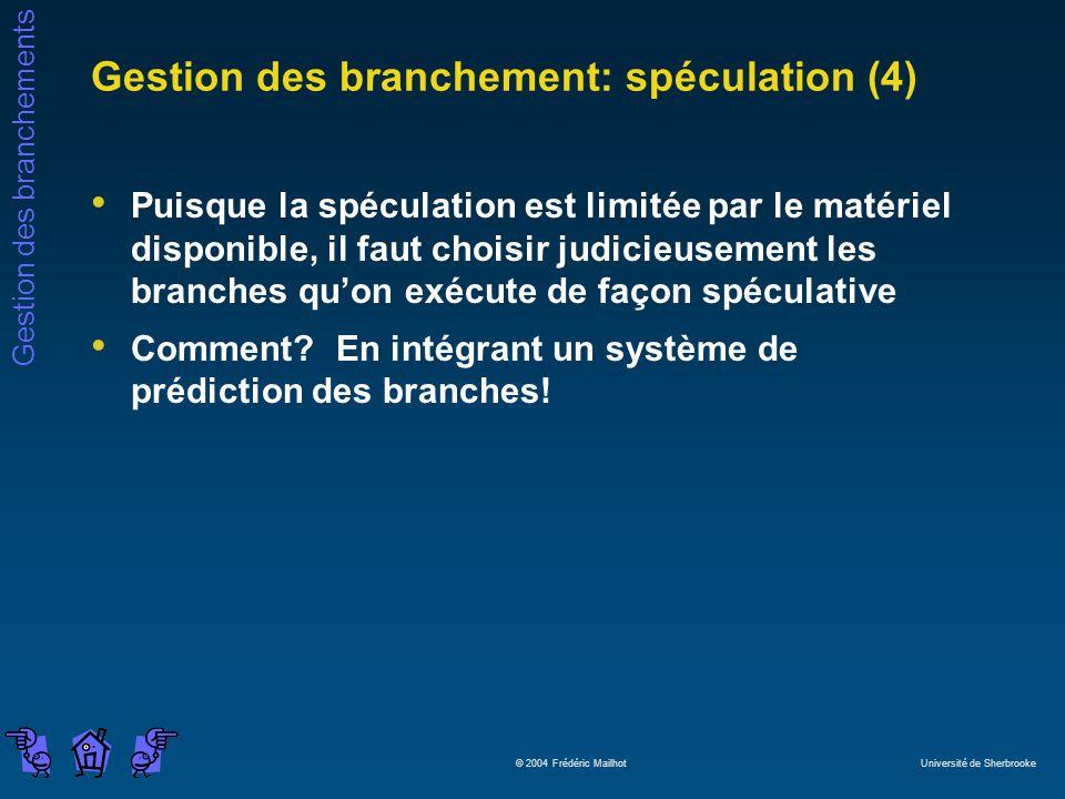 Gestion des branchement: spéculation (4)