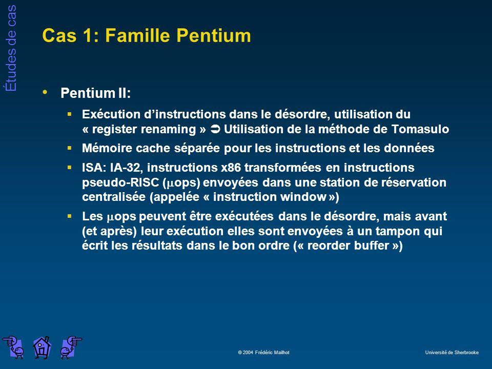 Cas 1: Famille Pentium Pentium II: