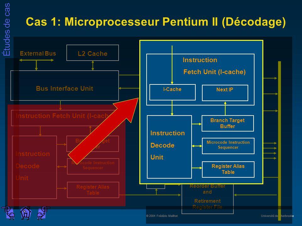 Cas 1: Microprocesseur Pentium II (Décodage)