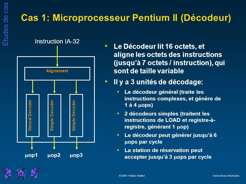 Cas 1: Microprocesseur Pentium II (Décodeur)