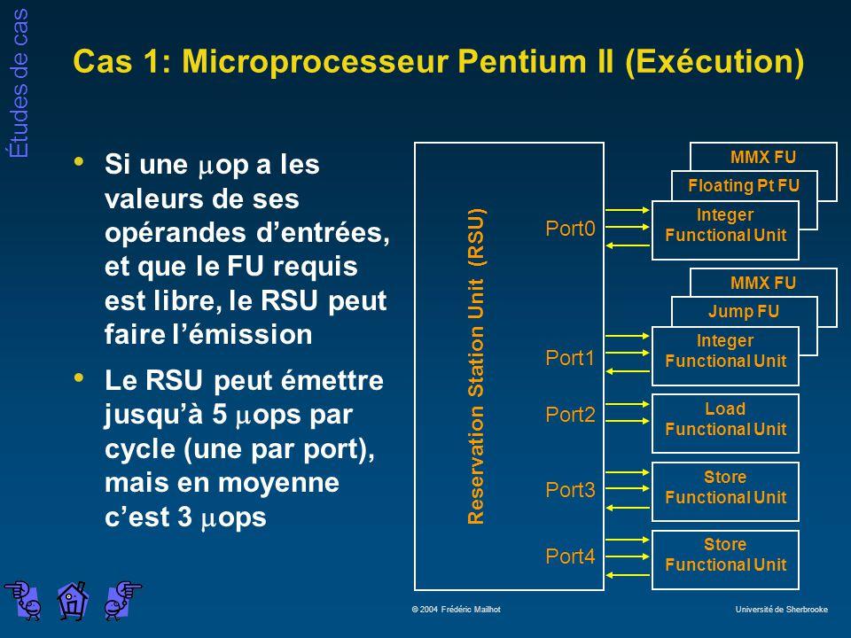 Cas 1: Microprocesseur Pentium II (Exécution)