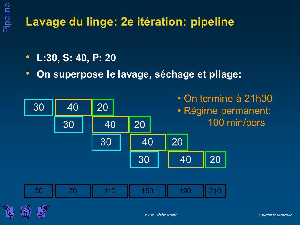 Lavage du linge: 2e itération: pipeline