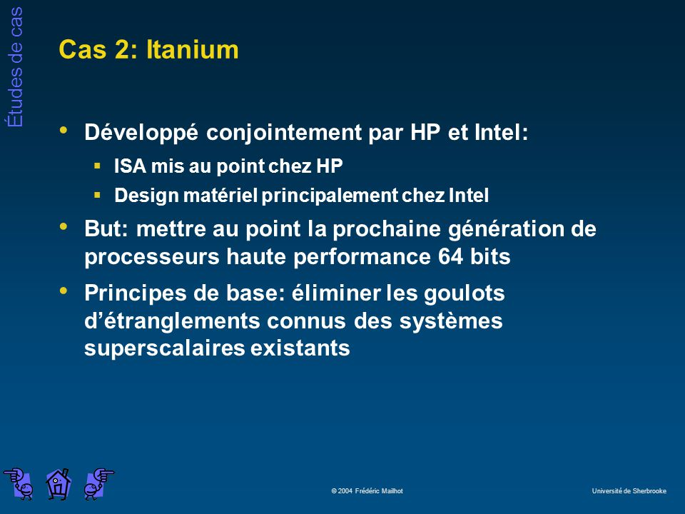 Cas 2: Itanium Développé conjointement par HP et Intel: