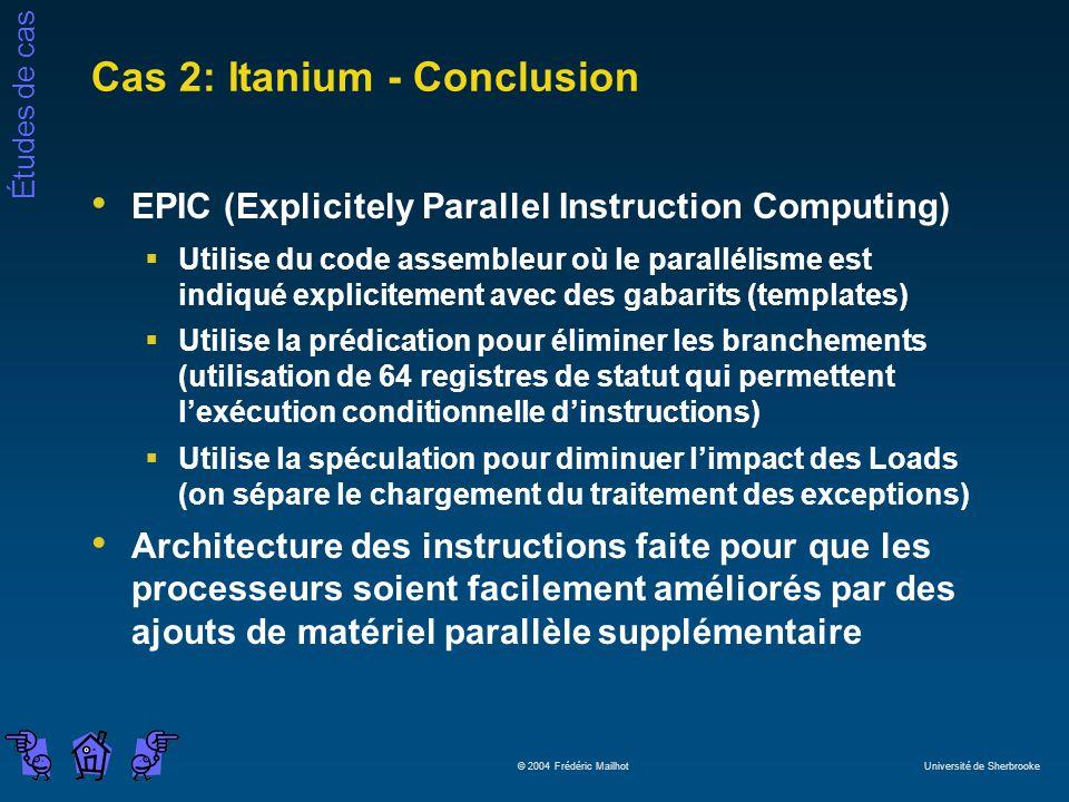 Cas 2: Itanium - Conclusion