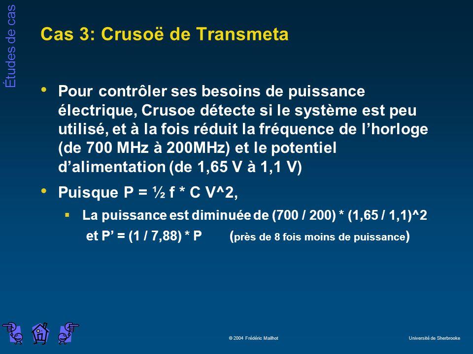 Cas 3: Crusoë de Transmeta