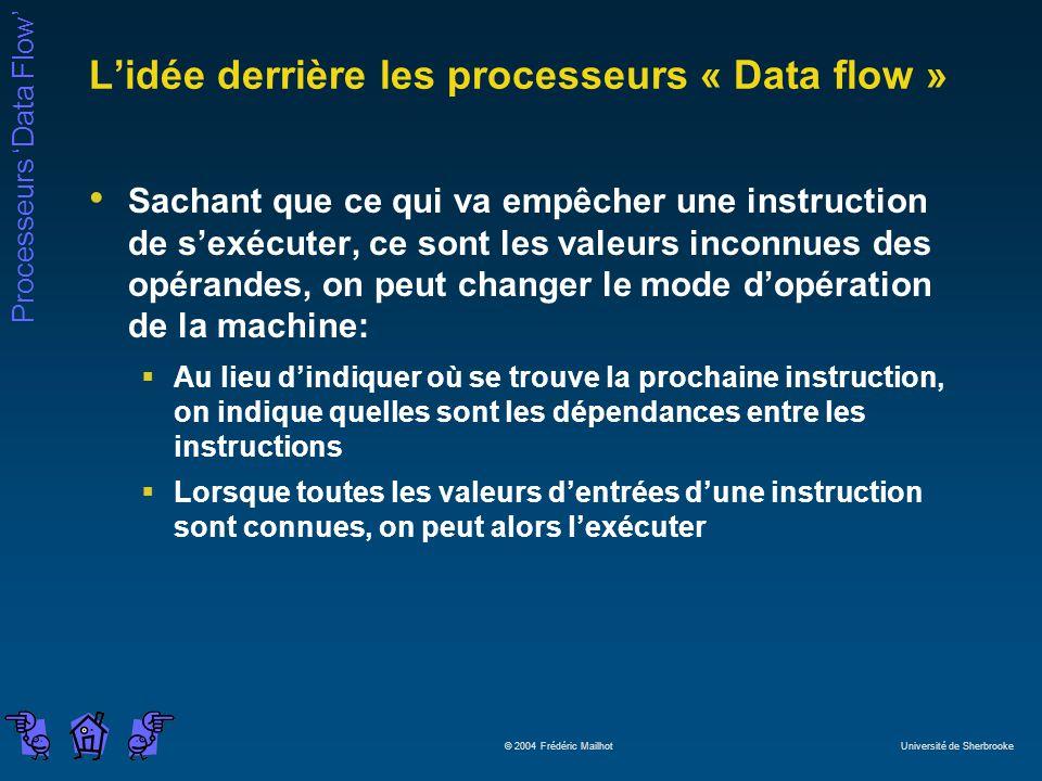 L'idée derrière les processeurs « Data flow »