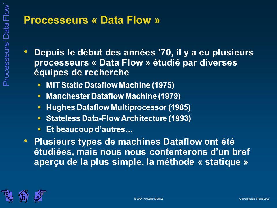 Processeurs « Data Flow »