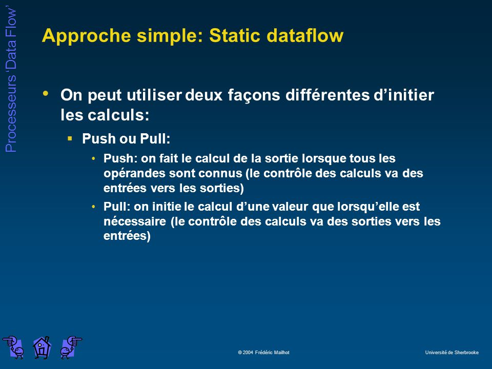 Approche simple: Static dataflow