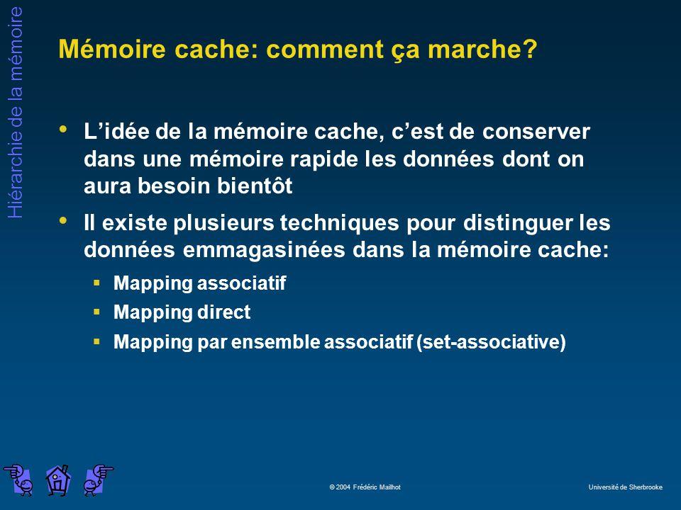 Mémoire cache: comment ça marche