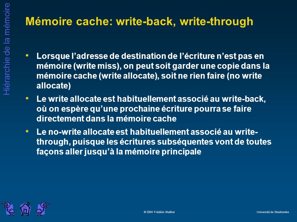 Mémoire cache: write-back, write-through