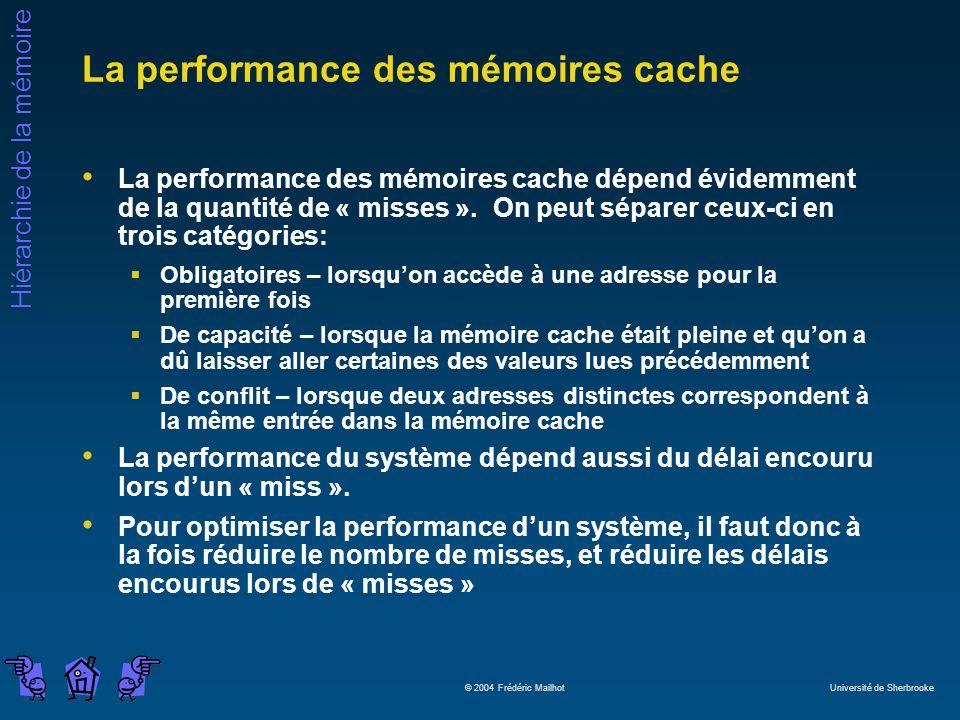 La performance des mémoires cache