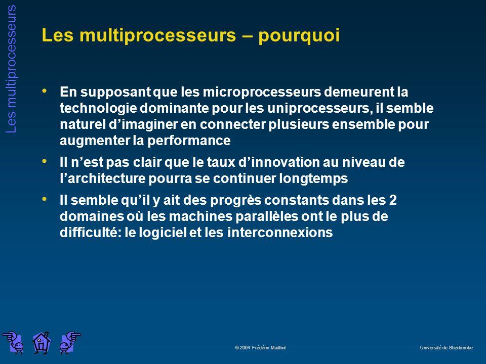 Les multiprocesseurs – pourquoi