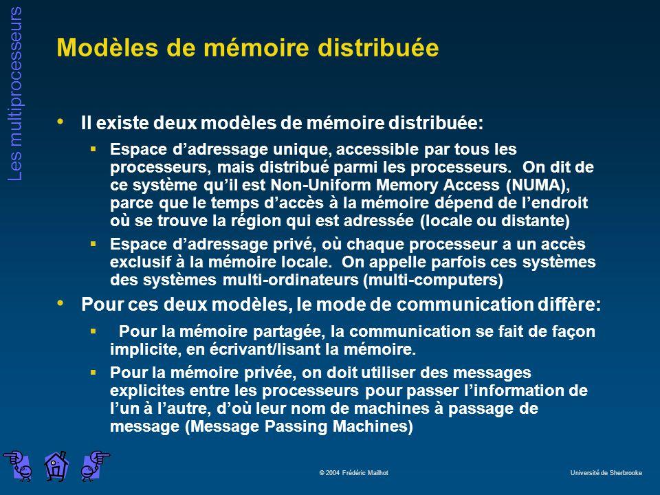 Modèles de mémoire distribuée