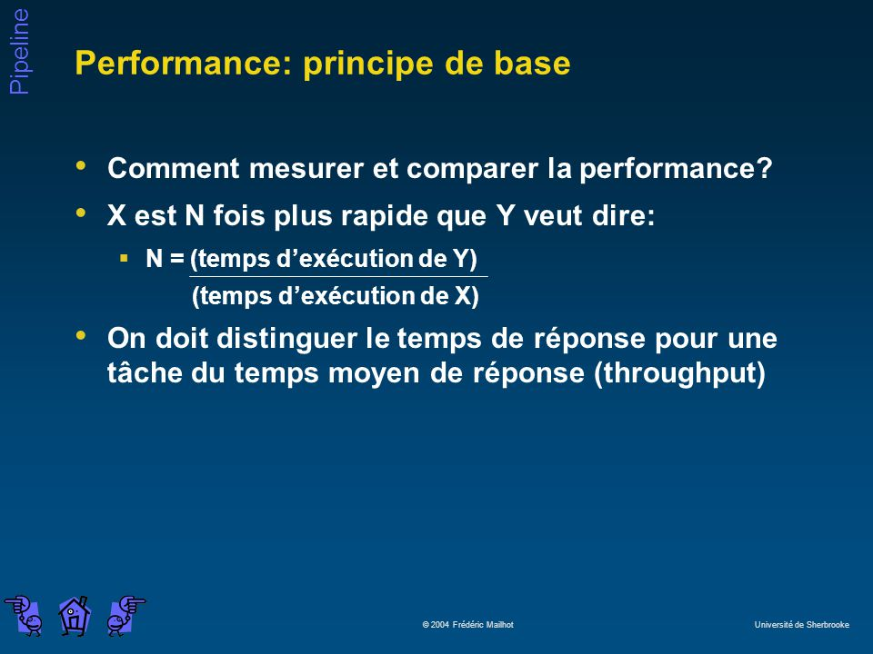 Performance: principe de base