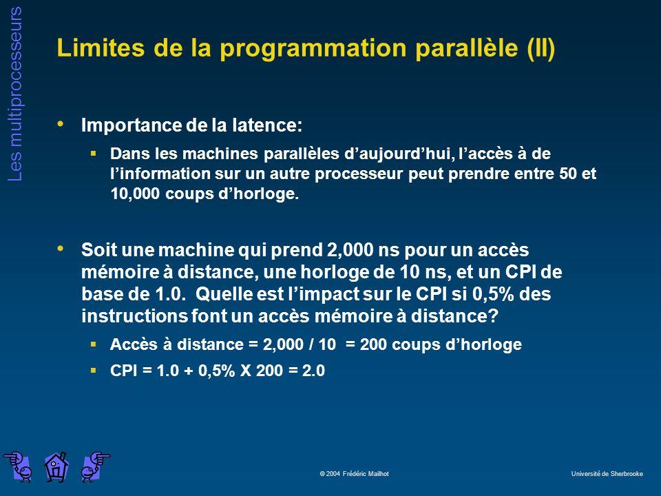 Limites de la programmation parallèle (II)
