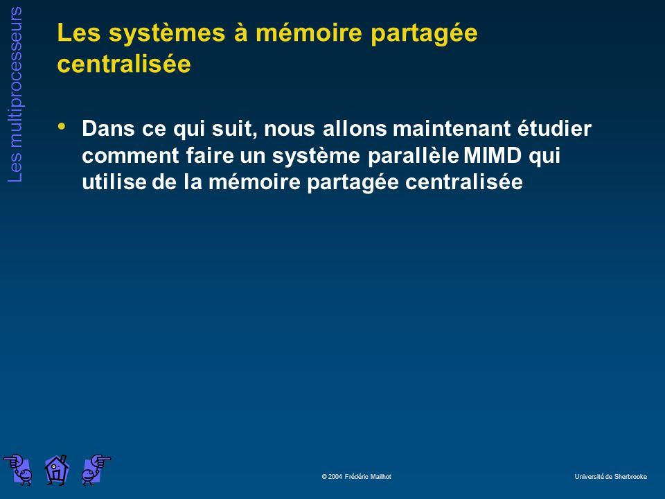 Les systèmes à mémoire partagée centralisée