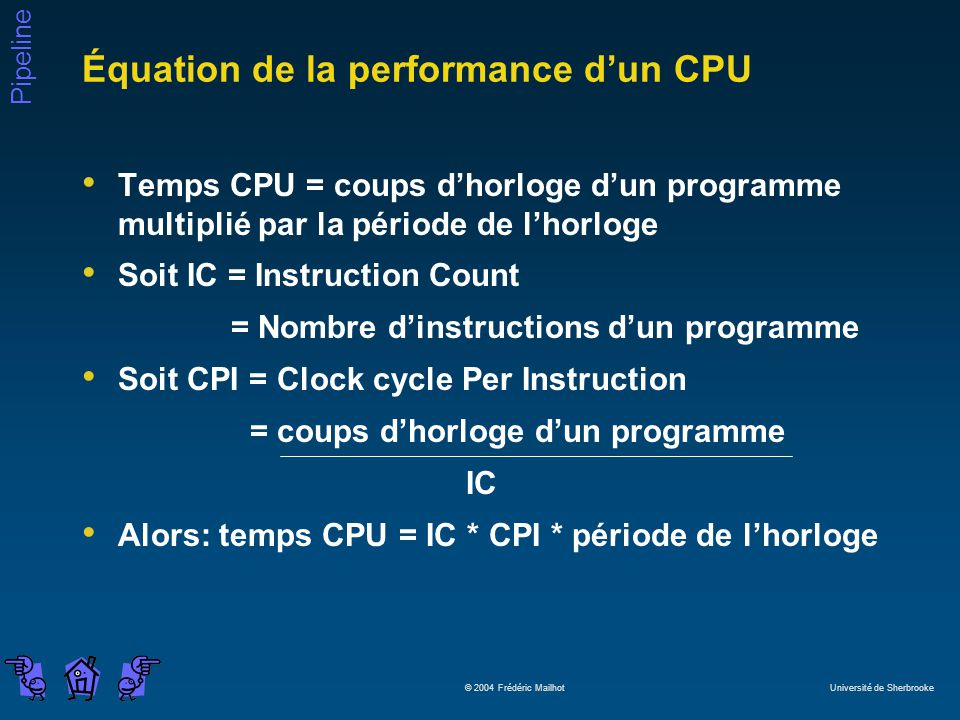 Équation de la performance d'un CPU