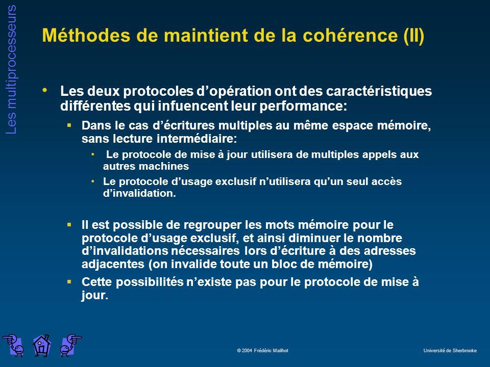 Méthodes de maintient de la cohérence (II)