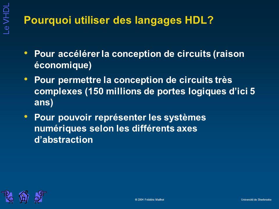 Pourquoi utiliser des langages HDL