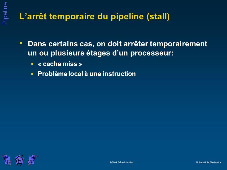 L'arrêt temporaire du pipeline (stall)