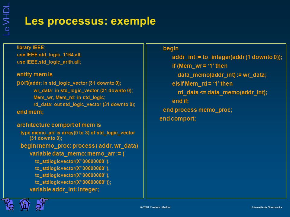 Les processus: exemple