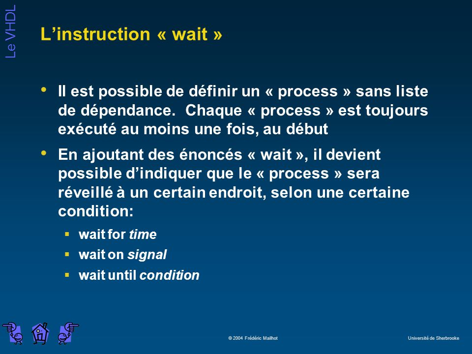 L'instruction « wait »