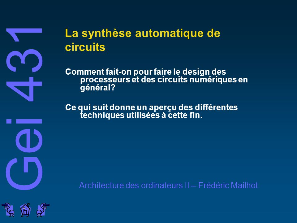 La synthèse automatique de circuits