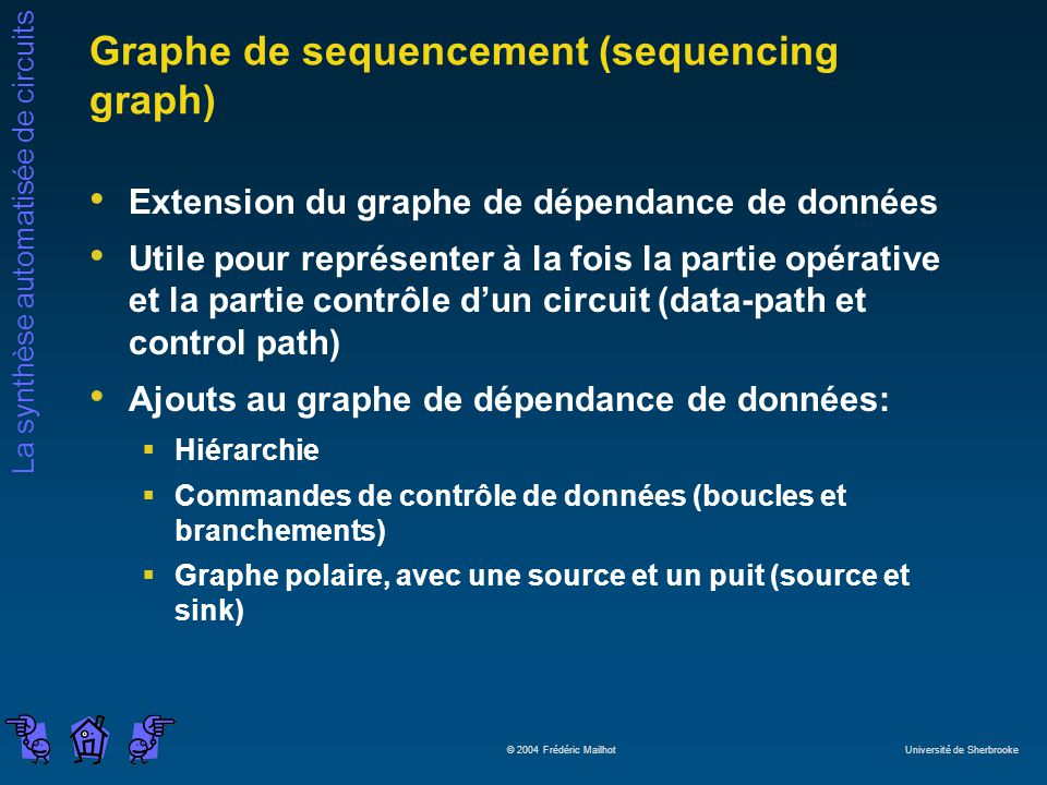 Graphe de sequencement (sequencing graph)