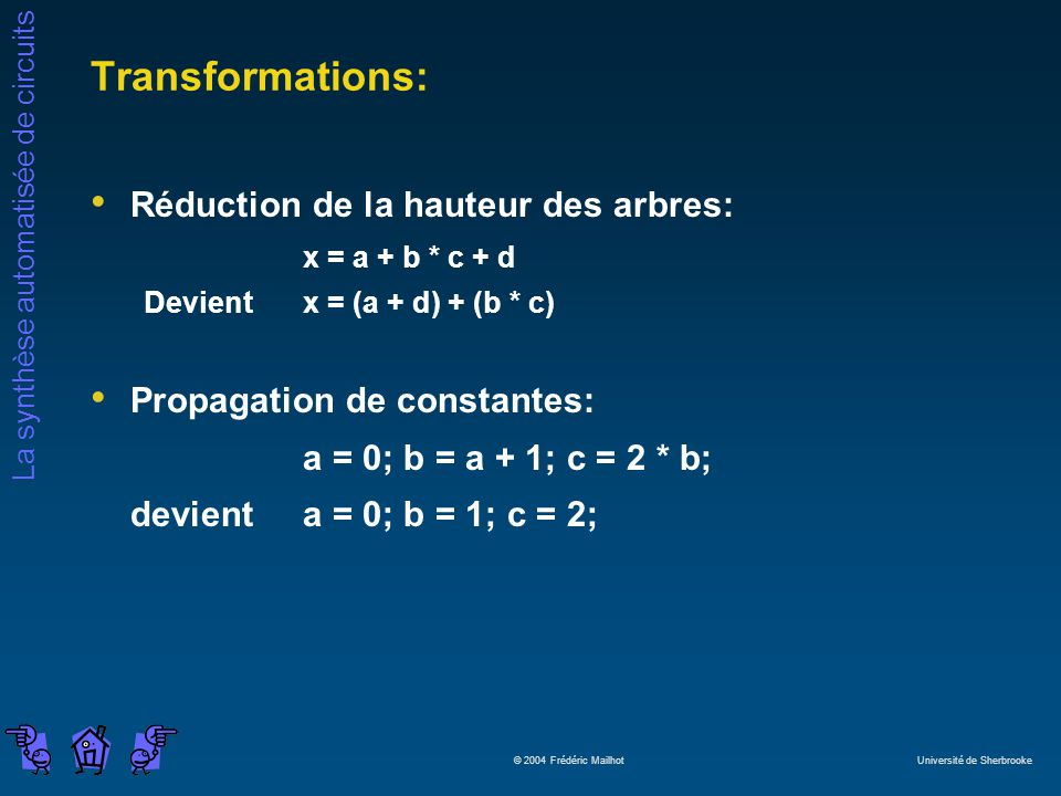 Transformations: Réduction de la hauteur des arbres: