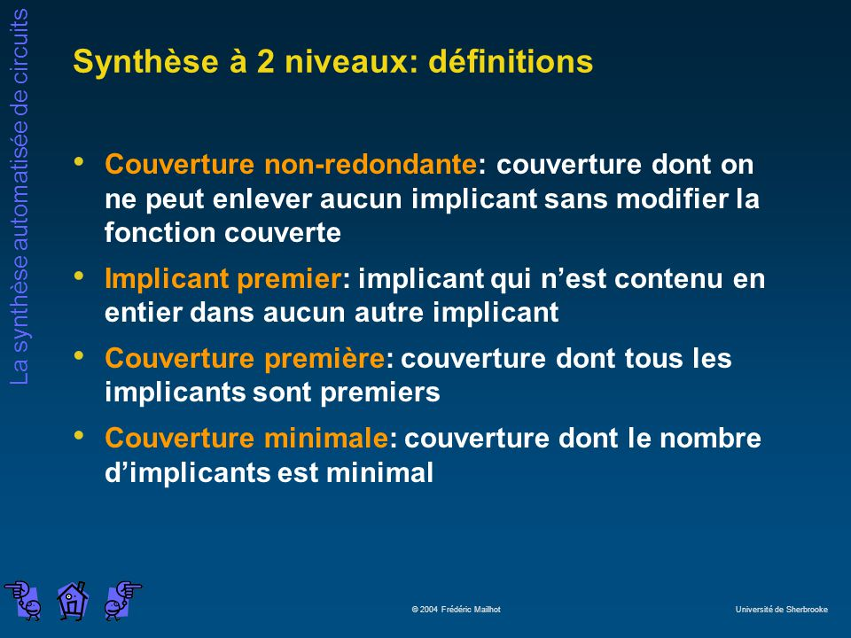 Synthèse à 2 niveaux: définitions