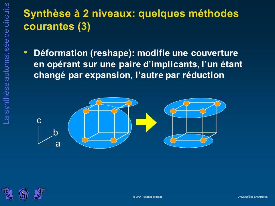 Synthèse à 2 niveaux: quelques méthodes courantes (3)