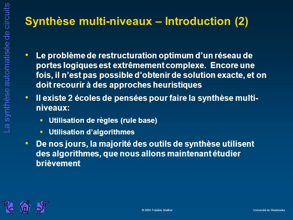 Synthèse multi-niveaux – Introduction (2)