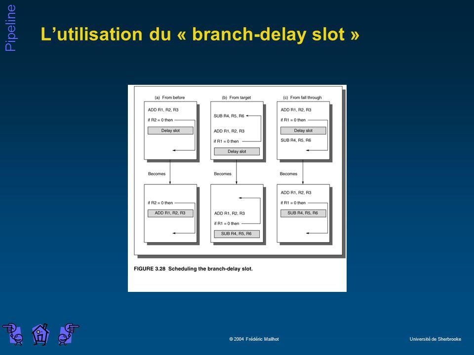 L'utilisation du « branch-delay slot »
