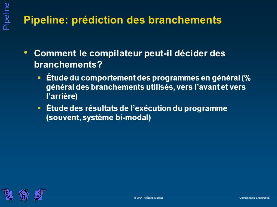 Pipeline: prédiction des branchements
