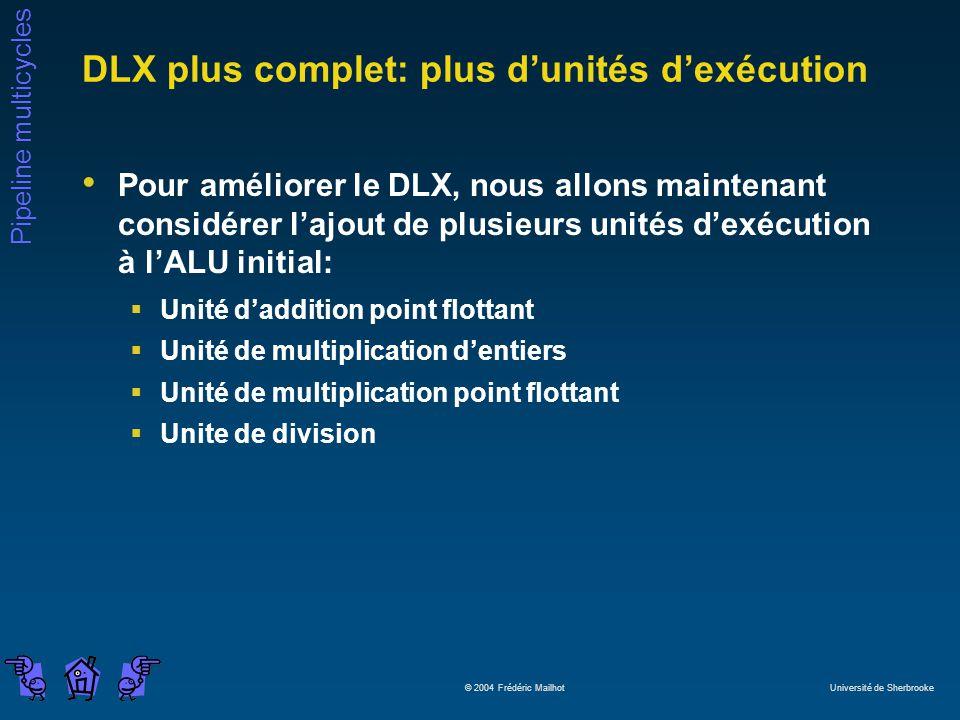 DLX plus complet: plus d'unités d'exécution