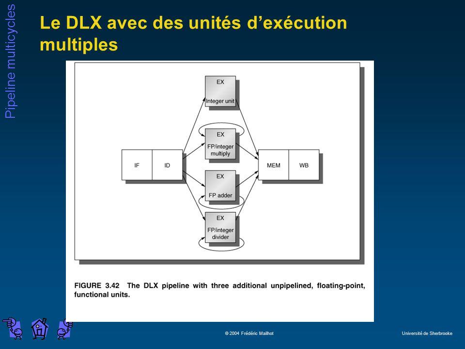 Le DLX avec des unités d'exécution multiples